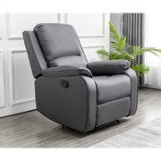 Palermo Grey Leather Recliner Armchair