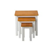Pine Wood Nest Of Tables, Living Room Furniture, Furniture Maxi, Furniture Maxi