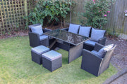Rosen Conservatory Range Rattan Garden Furniture Set 7 Seater Dining Set - Furniture Maxi