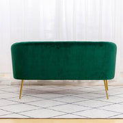 Russell Velvet Two Seater Sofa In Green - Furniture Maxi