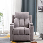 Sheffield Fabric Manual Recliner Armchair In Light Grey
