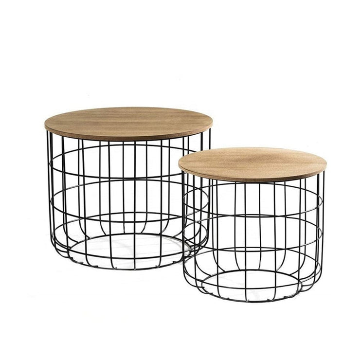 Kemi 2 Piece Wire Nesting Side Tables