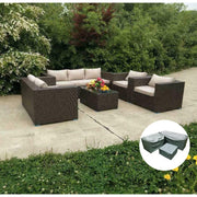 Vancouver 7 Seater Rattan Garden Sofa Set In Brown, Garden Furniture, Furniture Maxi, Furniture Maxi