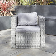 Vancouver 5 Seater Rattan Garden Furniture Set In Grey, Garden Furniture, Furniture Maxi, Furniture Maxi