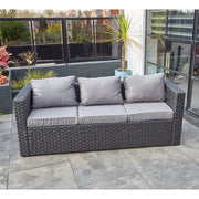 Vancouver 5 Seater Black Rattan Corner Sofa Patio Set, Garden Furniture, Furniture Maxi, Furniture Maxi