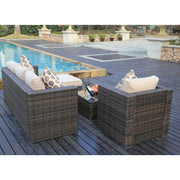 Vancouver 5 Seater Rattan Garden Furniture Set In Brown, Garden Furniture, Furniture Maxi, Furniture Maxi