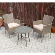 Yakoe Eton 2 Seater Garden Furniture Bistro Set In Sand - Furniture Maxi