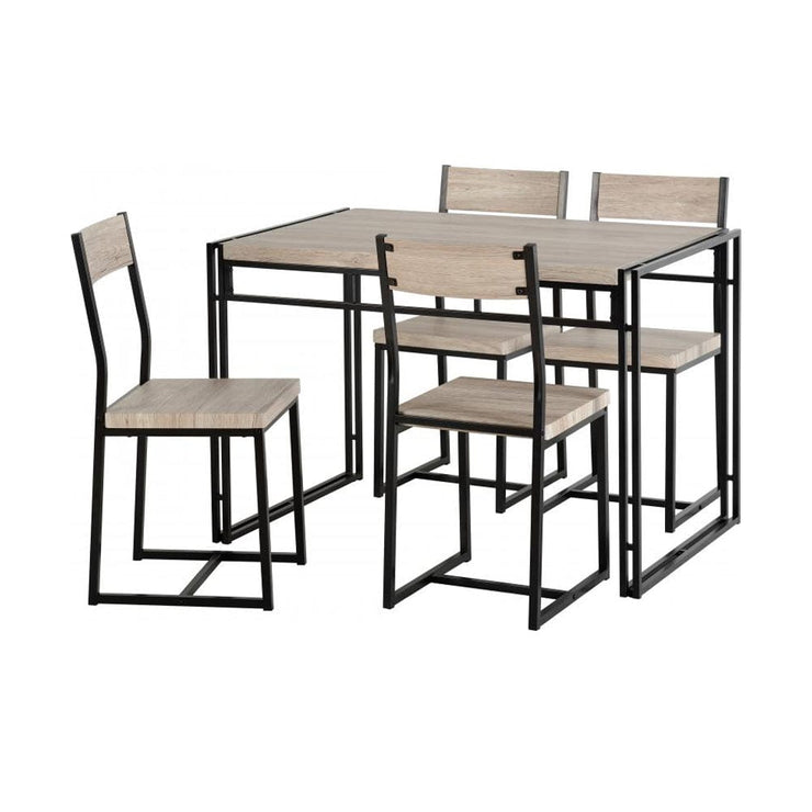 Yorick Dining Set In Oak Effect - Furniture Maxi