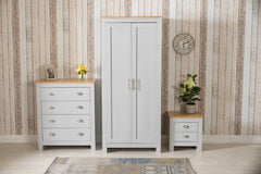 3 Piece Bedroom Set Grey and Oak | Furniture Maxi