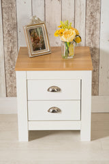 Heritage 2 Drawer White Bedside Table Night Stand