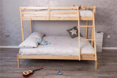 3 Sleeper Natural Pine Wood Triple Bunk Bed | Furniture Maxi