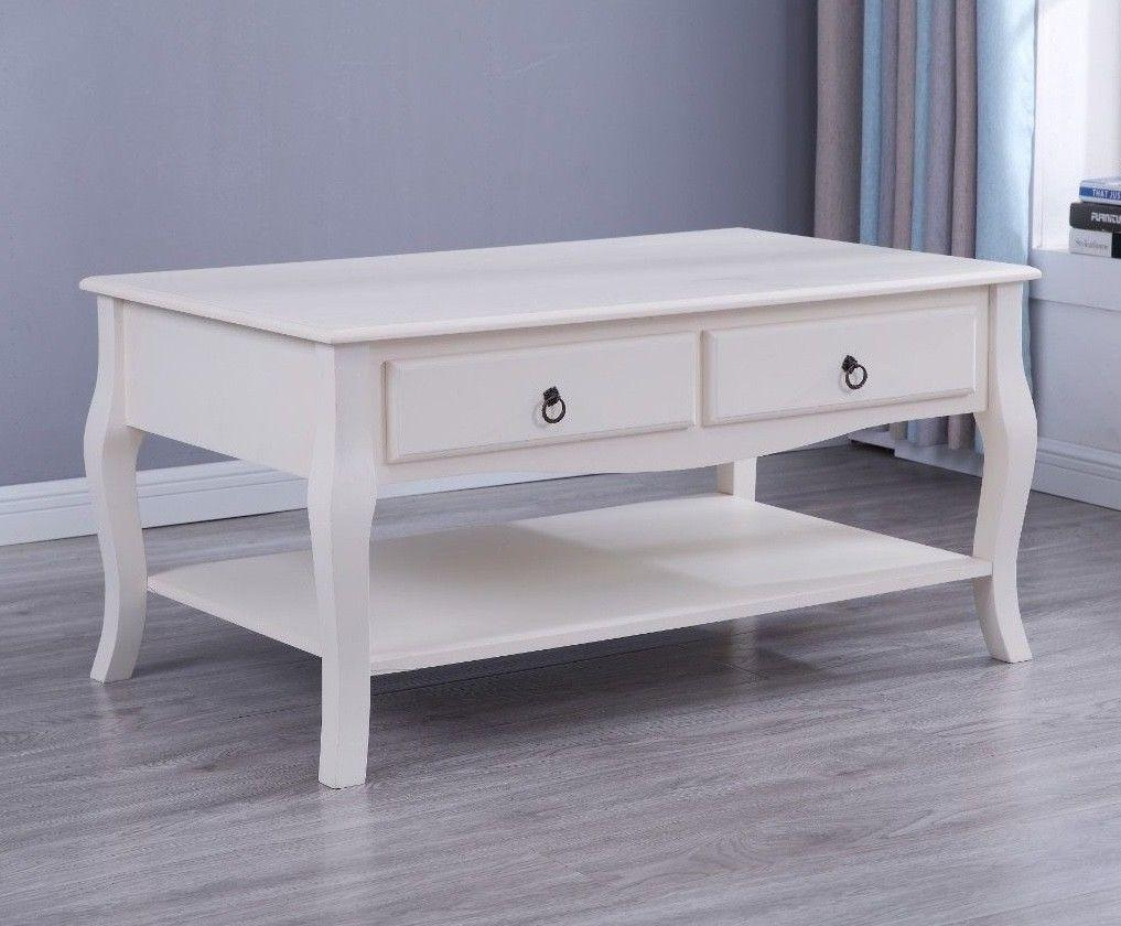 Estelle White Coffee Table Living Room Furniture Furniture Maxi
