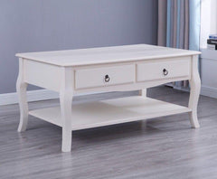 Estelle White Coffee Table - Furniture Maxi