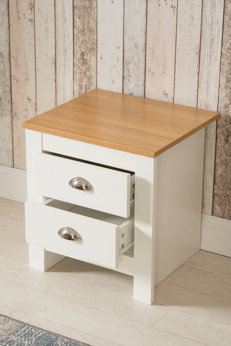 Heritage 2 Drawer Grey Bedside Table Night Stand, Bedroom Furniture, Furniture Maxi, Furniture Maxi