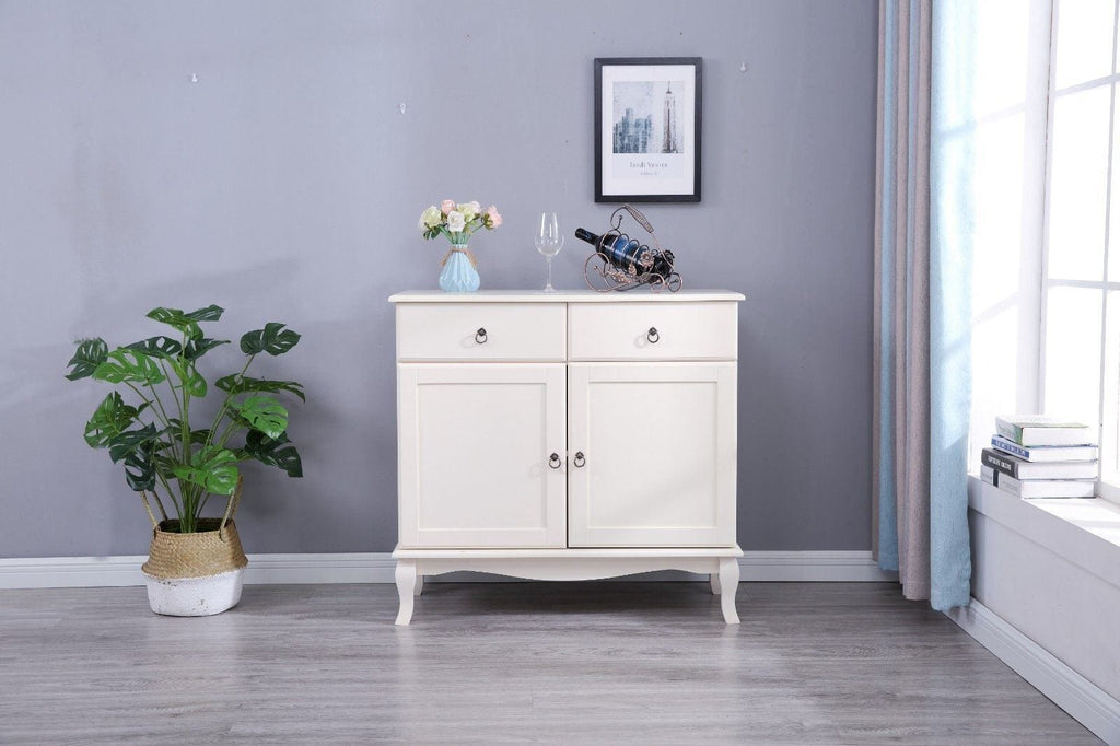 Estelle 2 Drawer 2 Door White Side Board Living Room Furniture Furniture Maxi