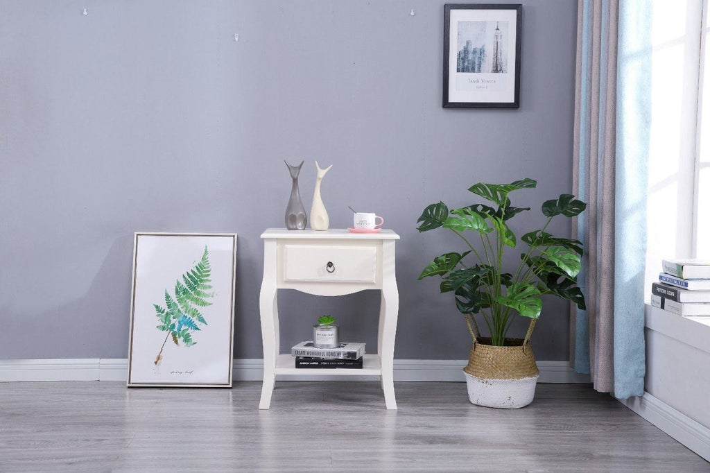 Estelle White Side Table Living Room Furniture Furniture Maxi