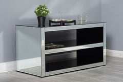 Glamor Mirrored Glass Side Cabinet Living Room Furniture Furniture Maxi