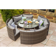 Rosen Rattan Outdoor 8 Seater Round Dining Set, Garden Furniture, Furniture Maxi, Furniture Maxi