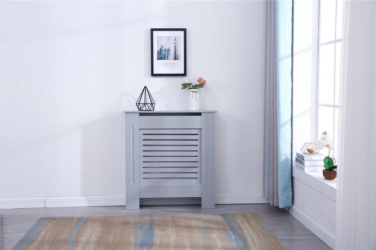 Grey Modern Wooden Radiator Grill Cover - Furniture Maxi