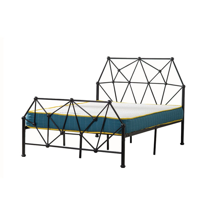 Metal Black Double Bed Frame, Bedroom Furniture, Furniture Maxi, Furniture Maxi
