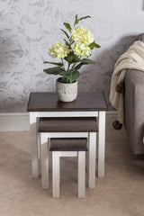 Dark Pine Nest of 3 Tables | Furniture Maxi