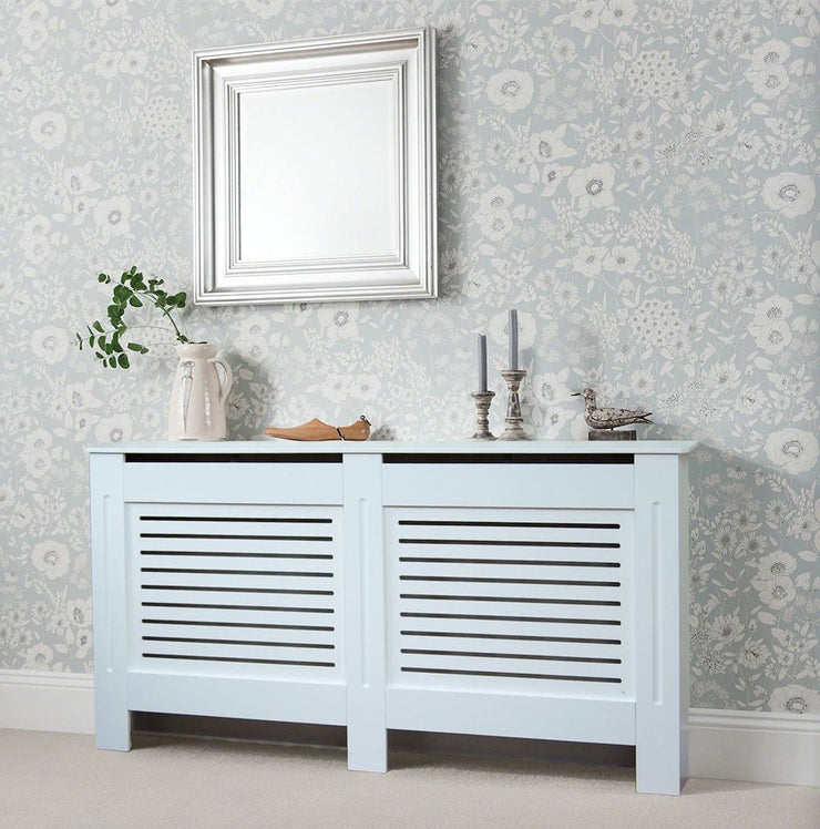 White Modern Wooden Radiator Grill Cover - Furniture Maxi