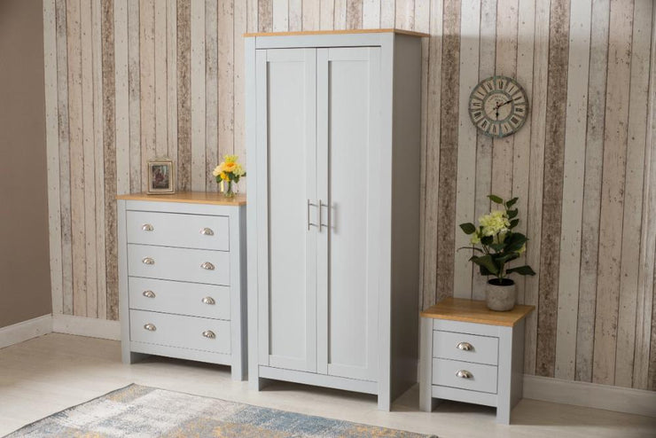 3 Piece Bedroom Heritage Set Grey and Oak, Bedroom Furniture, Furniture Maxi, Furniture Maxi