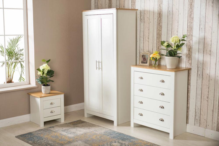 3 Piece Bedroom Heritage Set White and Oak, Bedroom Furniture, Furniture Maxi, Furniture Maxi