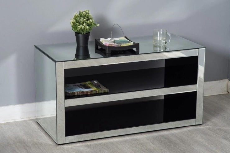 Glamour Mirrored Glass Side Cabinet - Furniture Maxi