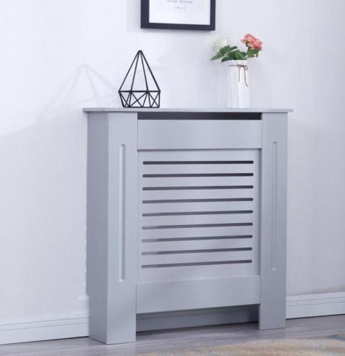 Grey Modern Wooden Radiator Grill Cover | Furniture Maxi