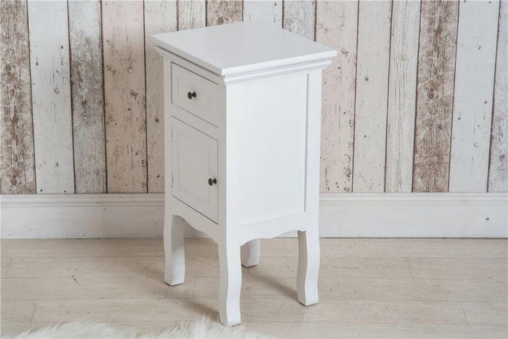 Pair of Classic White Bedroom Bedside Table - Furniture Maxi