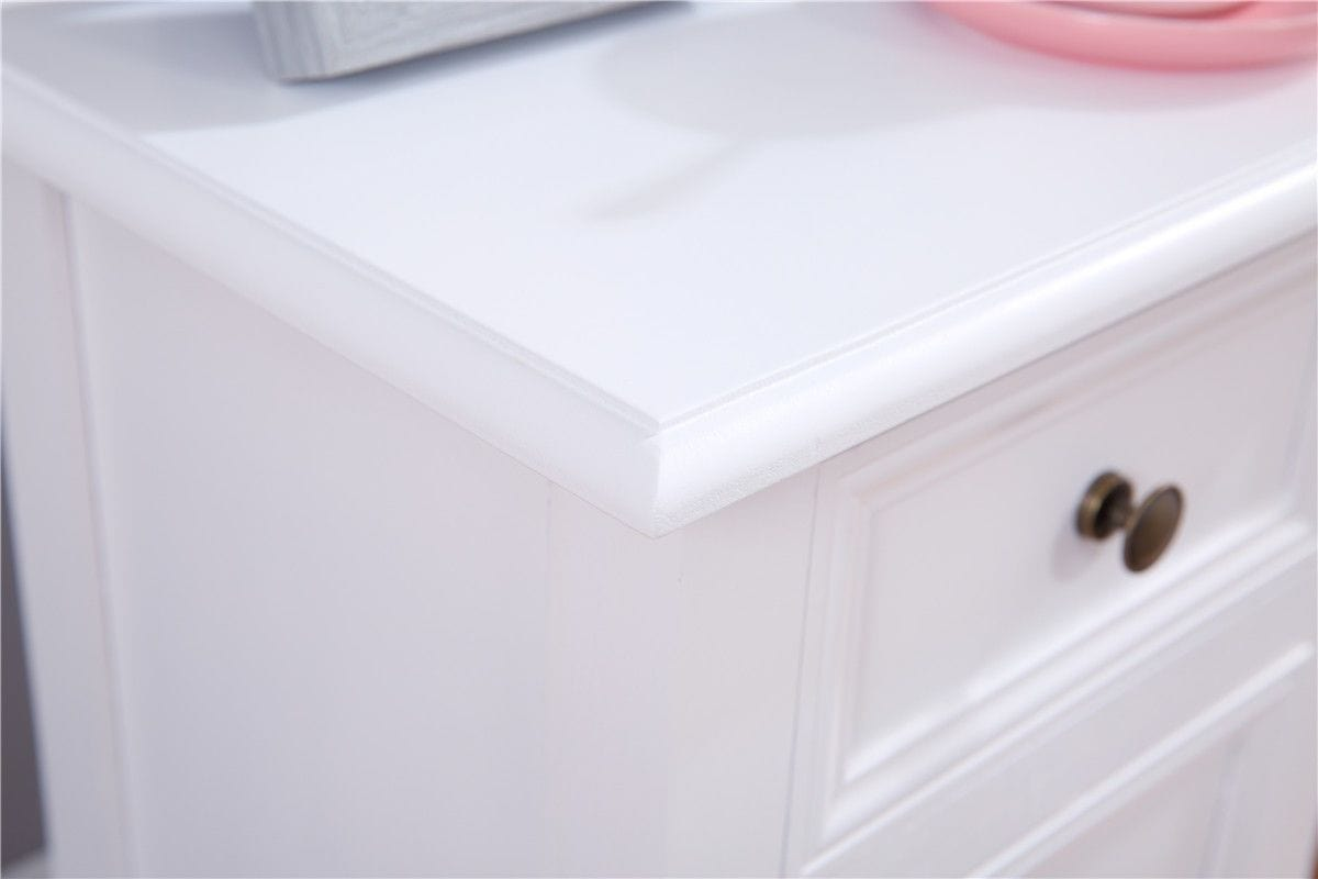 Set Of 2 White Bedside Table Nightstand End Drawers Storage Home Bedroom