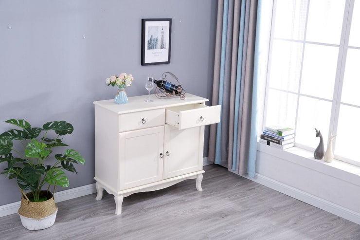 Estelle 2 Drawer 2 Door White Side Board - Furniture Maxi