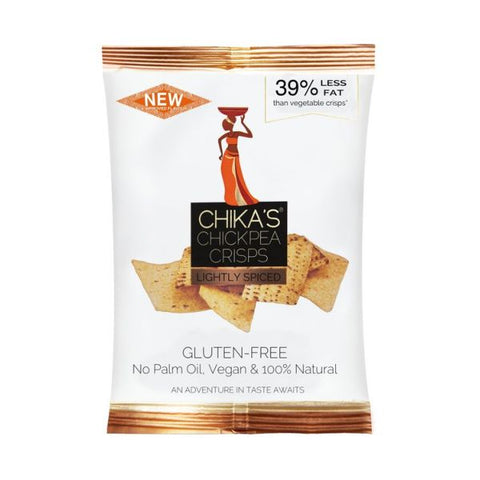 Chikas  Gluten Free Lightly Spiced Chickpea Crisps 140g x 12