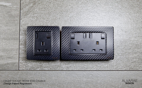 Power Socket with USB (Double)