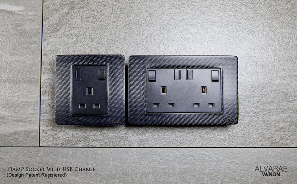 Light Switch and Power Socket with USB Charging