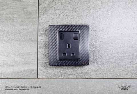Power Socket with USB (Single)