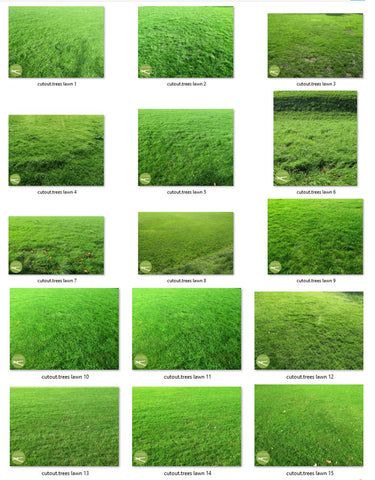 Green lawns -  15 textures photo pack