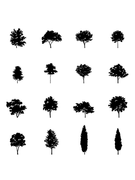 I.III. DWG Vectorial Trees - Small Trees Pack - cutout trees