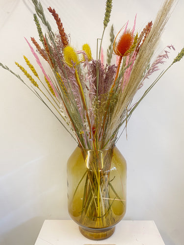 Spring Colours in Amber Vase