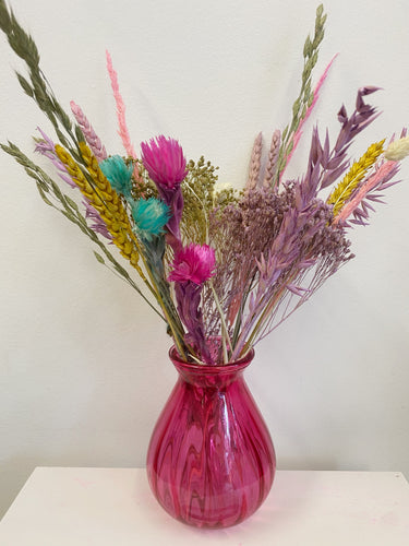 Colourful pink Vase