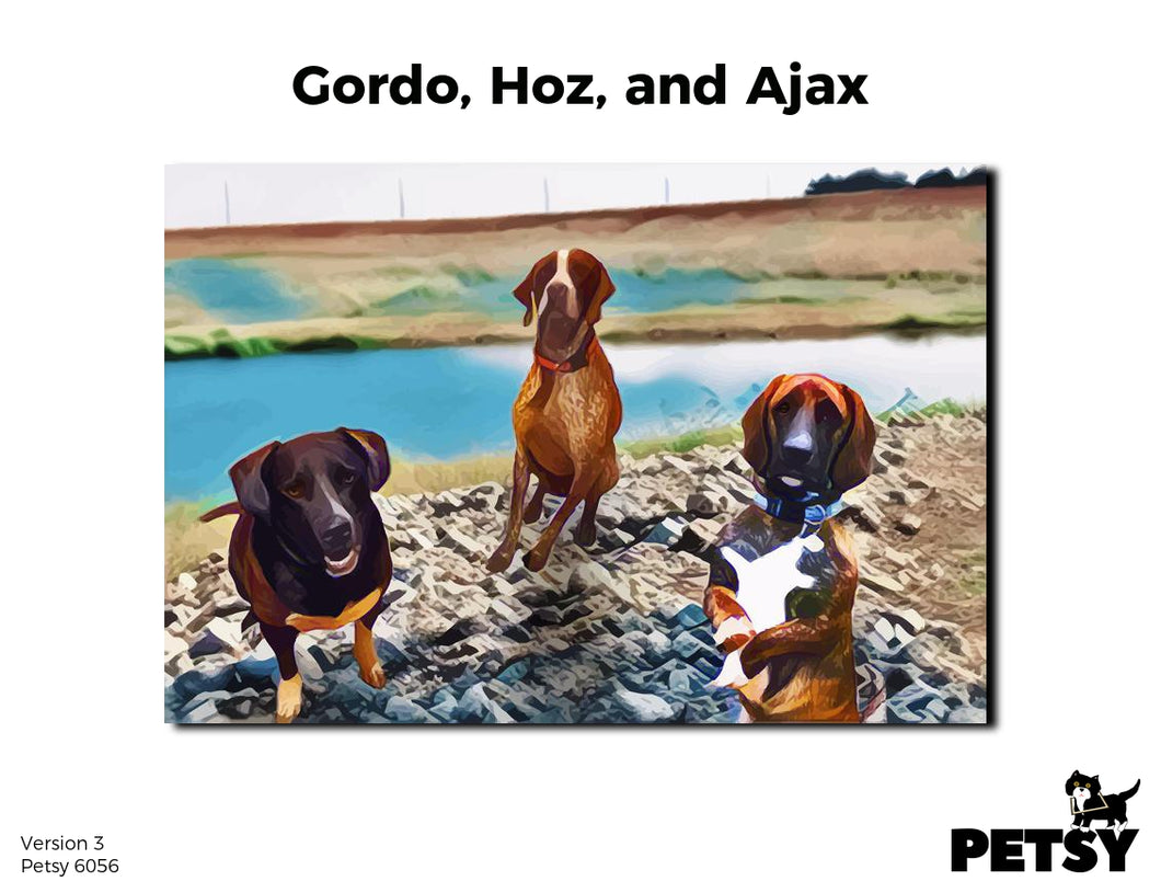 Gordo, Hoz, And Ajax's Petsy