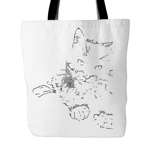 Sketchy Penguin Tote Bag
