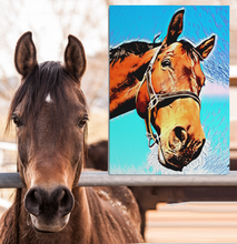 Custom Pet Portrait - Canvas Wall Art - Best Gift Ever! PETSY