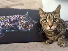 Custom CAT Painting - Canvas Wall Art - Best Gift Ever! PETSY