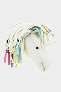 Unicorn Pastel Rainbow Wool Mount