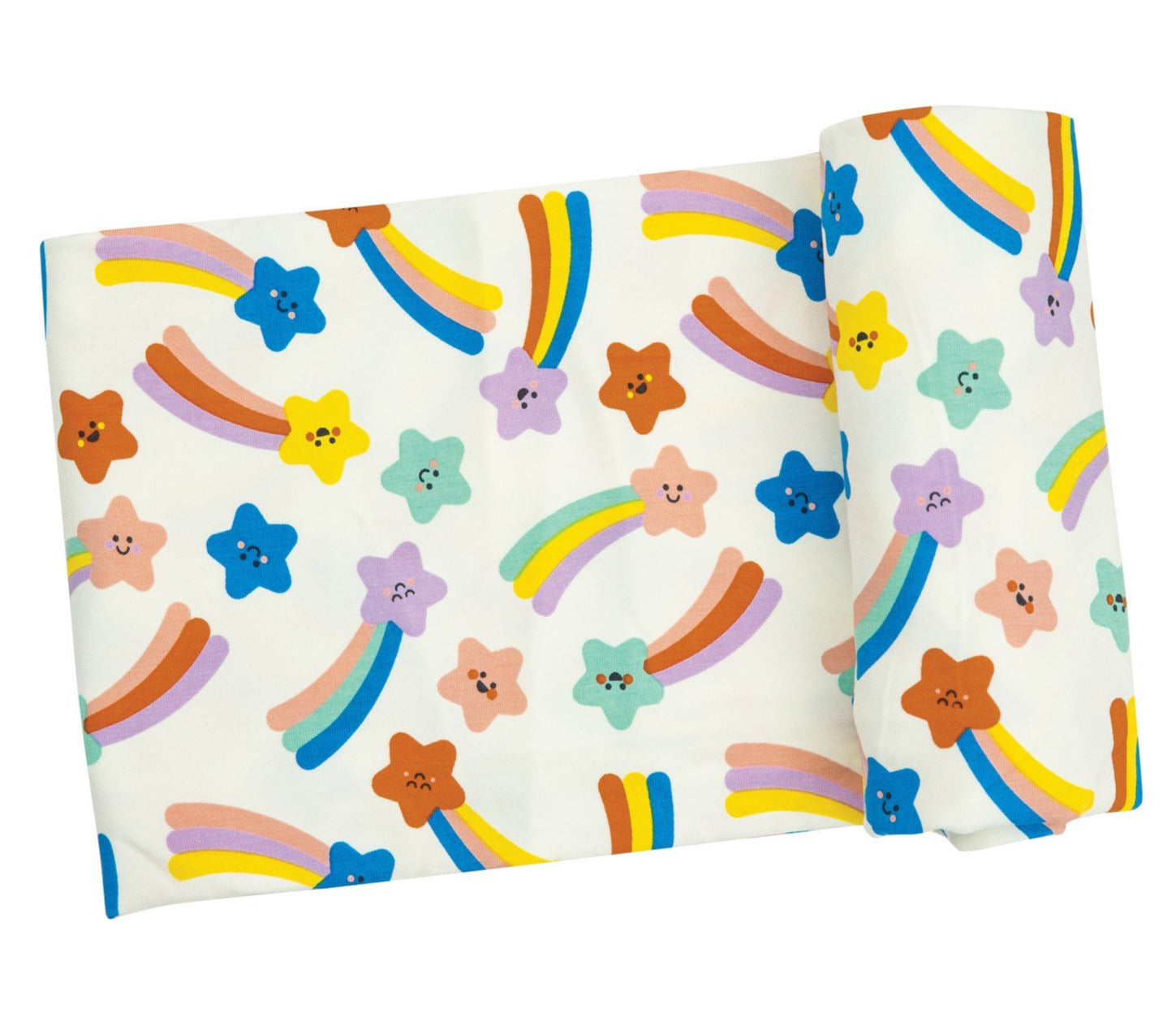 Pink Shooting Stars Swaddle Blanket
