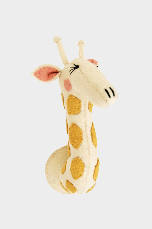 Girl Giraffe Wool Mount