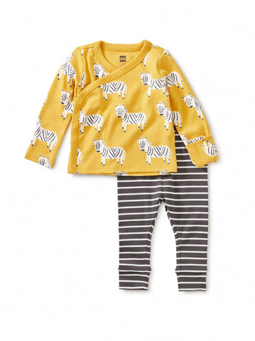 Sweet Zebra Wrap Top Baby Outfit