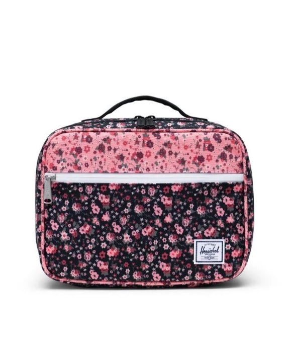 Pop Quiz Lunch Box Ditsy Floral Black/Pink